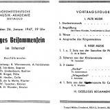 Programm, Geselliges Beisammensein, 1947