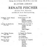 Programm Reifeprüfung Renate Fischer (später Kretschmar-Fischer)
