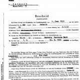 Bescheid über Ausbildungsbeihilfe, 1952