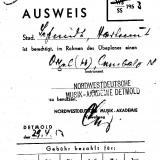Studentenausweis, 1953