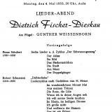 Programm Dietrich Fischer-Dieskau, 1953