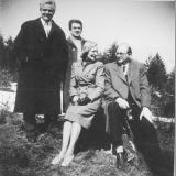 Collegium pro Arte: Konrad Lechner, Kurt Redel, Irmgard Lechner, Helmuth Winschermann (v.l.n.r.), Frankreich-Tournee März 1953