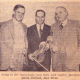 Bernhard Conz, David Oistrach, Max Strub