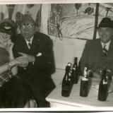 Faschingsfest im Studentenheim: N.N., Max Strub, Hans Richter-Haaser