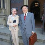 """Ali"" Wagner mit seiner Frau, Mai 2008"