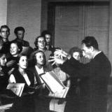 Chorprobe 1950 unter Kurt Thomas