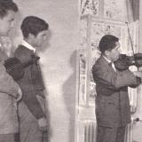 Tibor Varga mit seinen Schülern Johannes Rainer Gascard und Lukas David