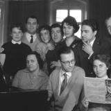 Opernschule mit Heinrich Creutzburg (links)